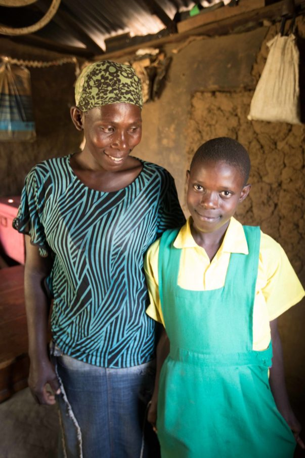 Mother Lillian is very proud of the work that Linah is accomplishing at school.