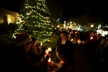Tree lighting at Pepperdine 6