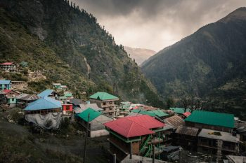 Malana Village…. only minutes before this shot the air was hot and the sun was bright. All of your group turned back for the hike down the mountain, I stayed behind with an interpreter and my prayer for overcast skies was answered in the form of snowflakes and beautiful clouds that shrouded the village of malana like a portrait studio… I went to work capturing the photos you see in this post. 😉❤️