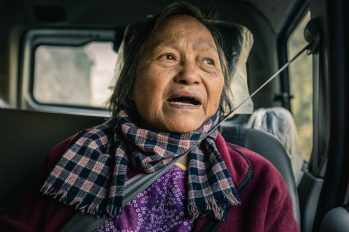 Auntie sharing stories during our road trip to Malana