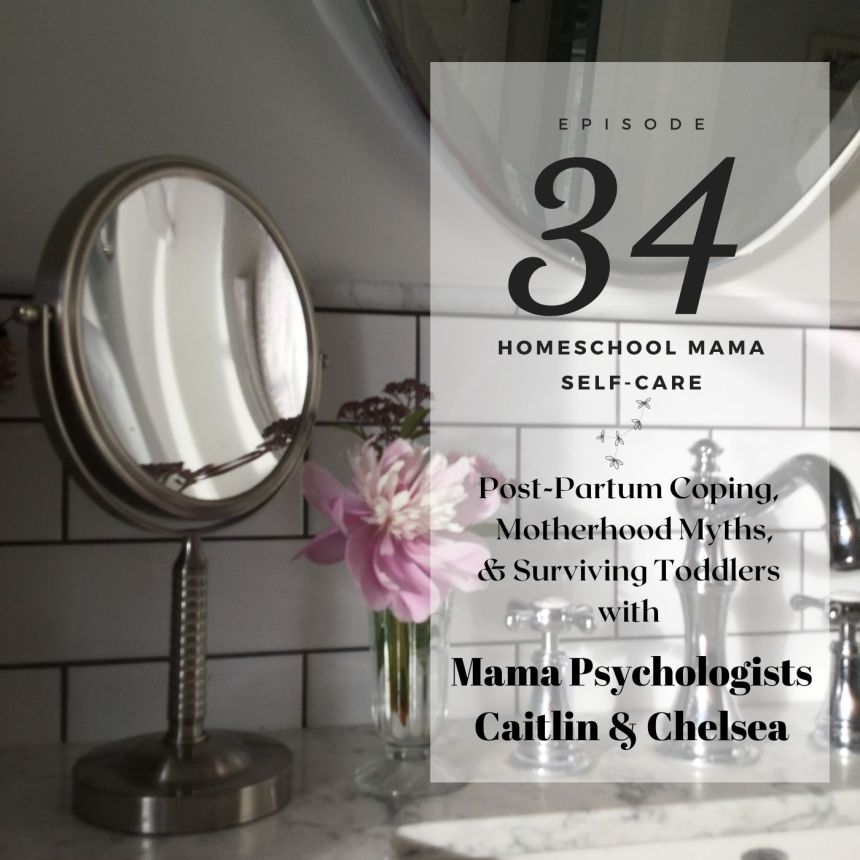 chelsea & caitlin mamapsychologists podcast interview homeschool mama self-care