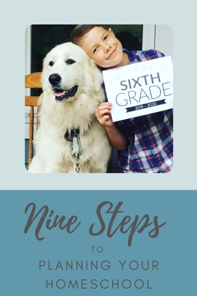 Nine Steps to Planning your homeschool