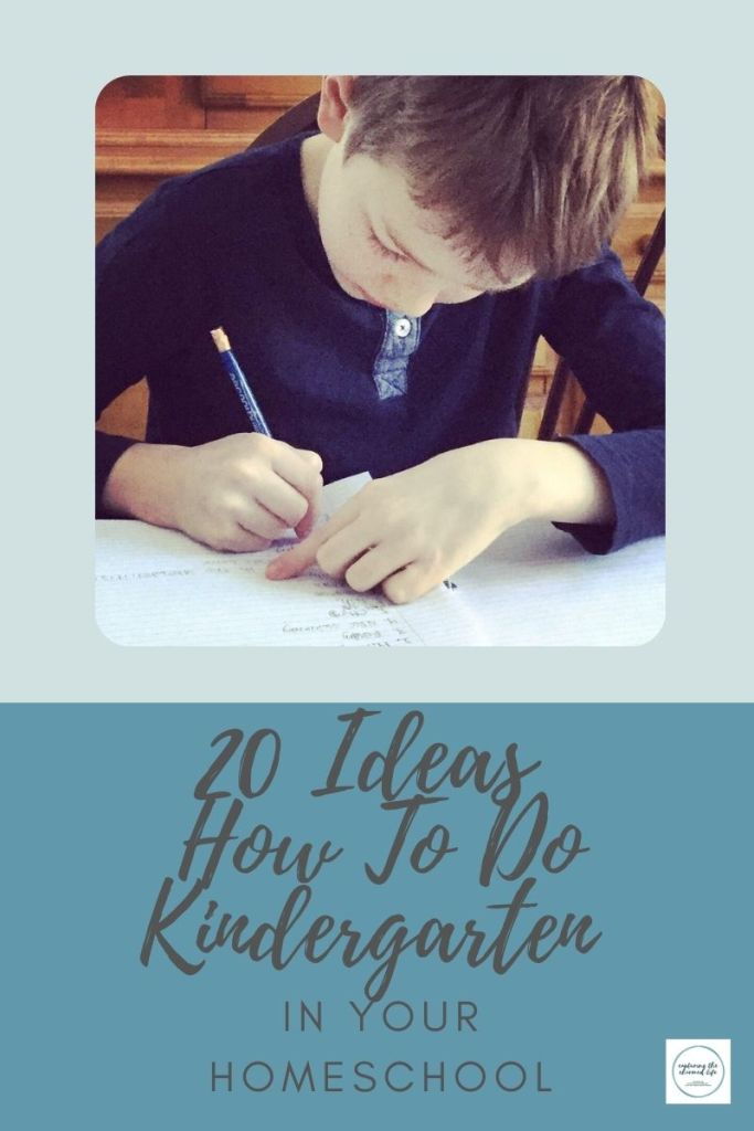20 ideas to do homeschool kindergarten