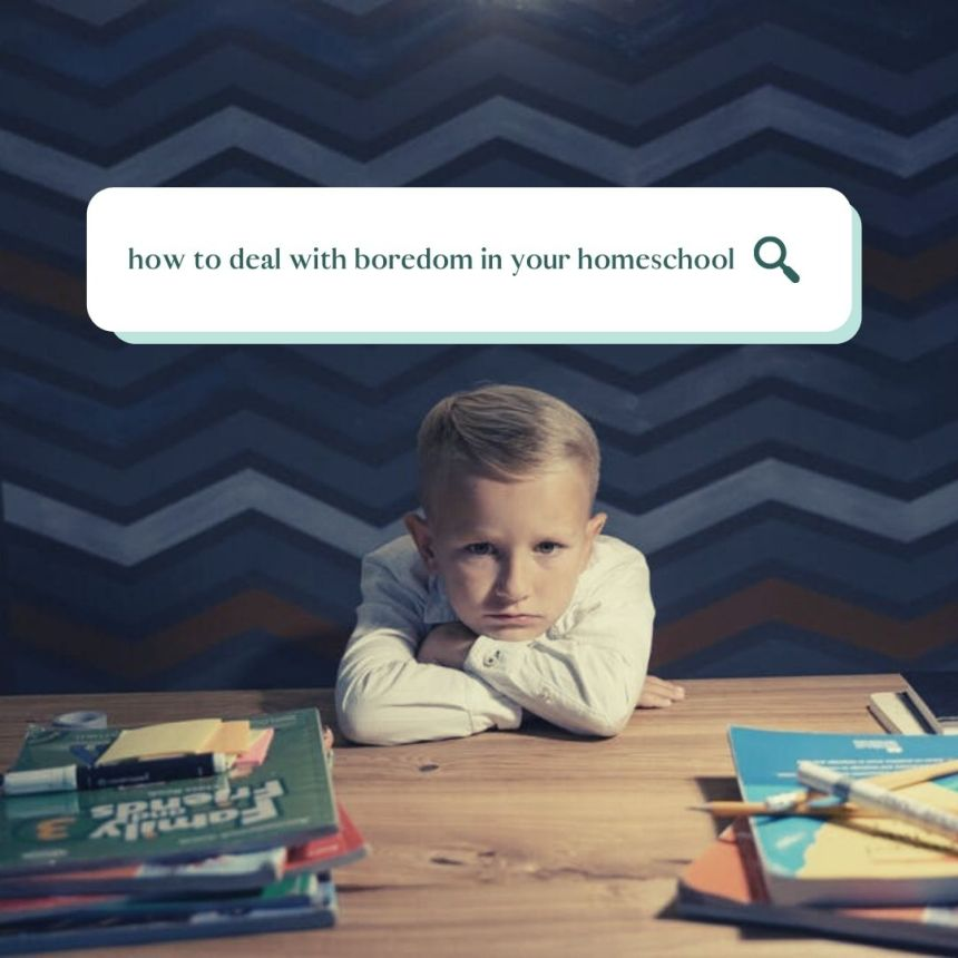 how to deal with boredom in your homeschool