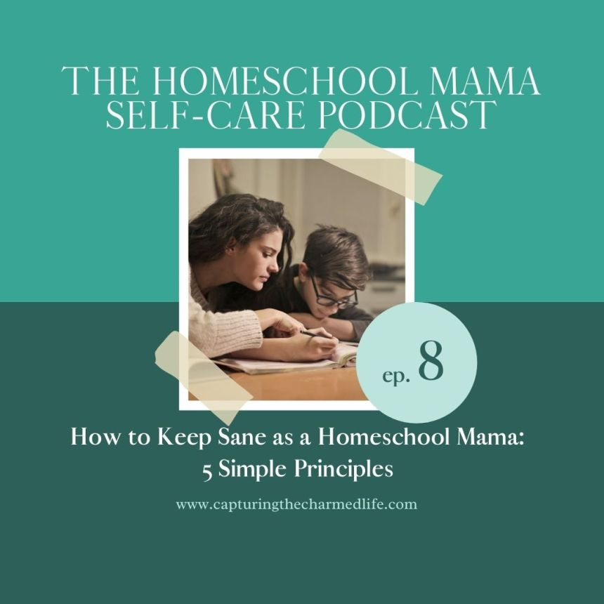 Keep sane as a homeschool mom: 5 principles