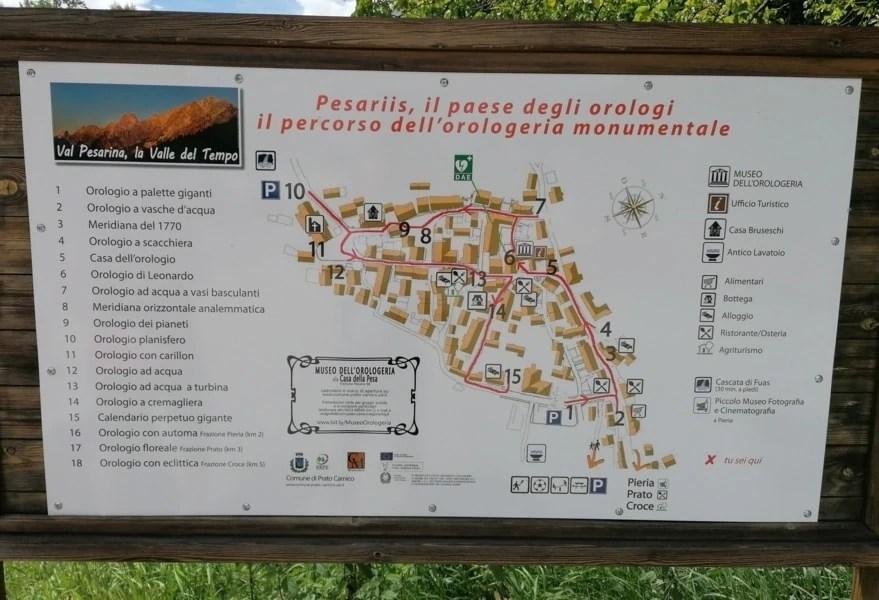 percorso orologeria monumentale di pesariis