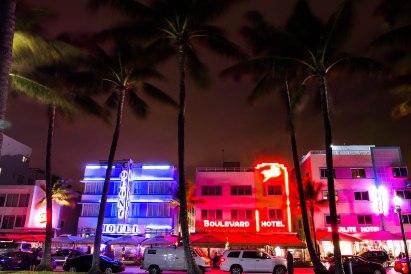 Ocean Drive by night