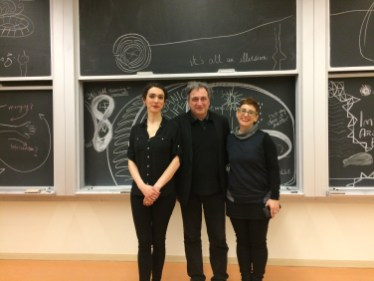 With Margherita Pevere after her performance and Roberta Buiani at the Fields Institute for Mathematical Studies in Toronto