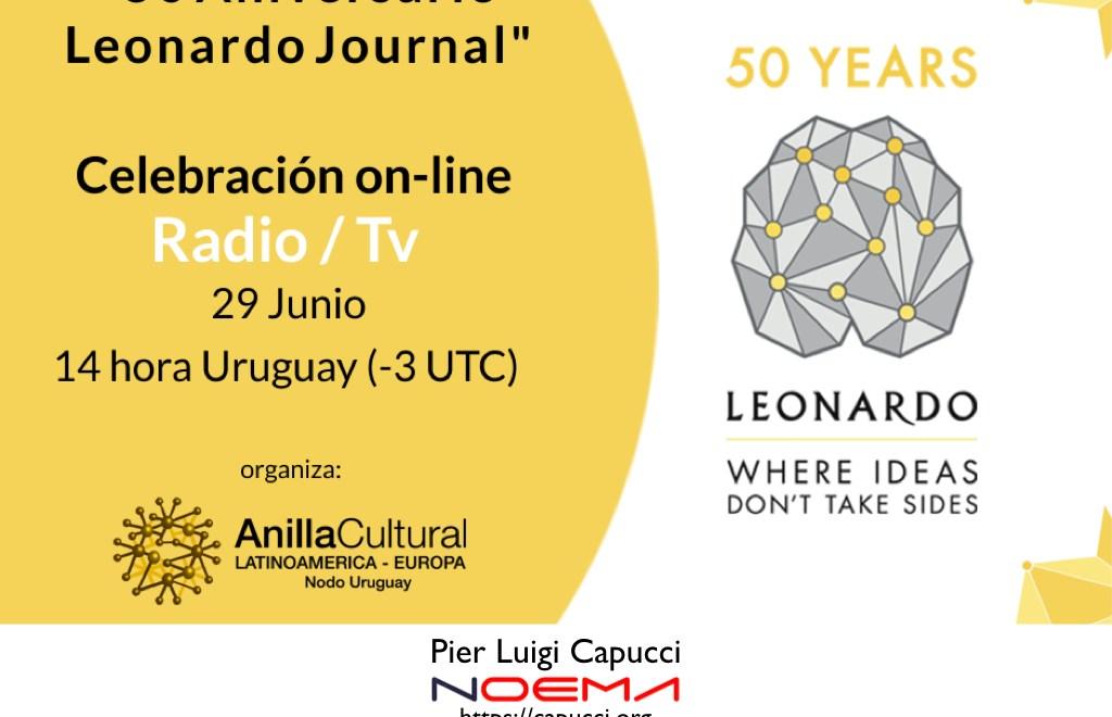 """Anilla Cultural LatinoAmerica – Europa, """"50 Aniversario Leonardo Journal"""""""