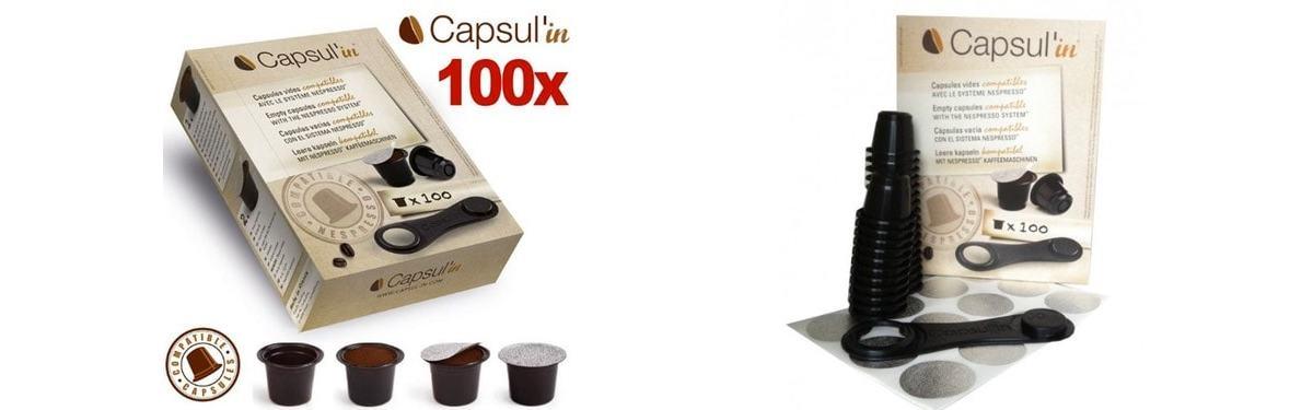 Las mejores cápsulas de café Nespresso rellenables (recargables): Capsul'in