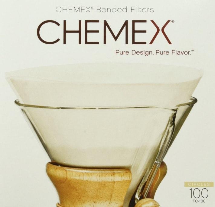 Chemex 100 Filtros Circles Prefolded FC-100