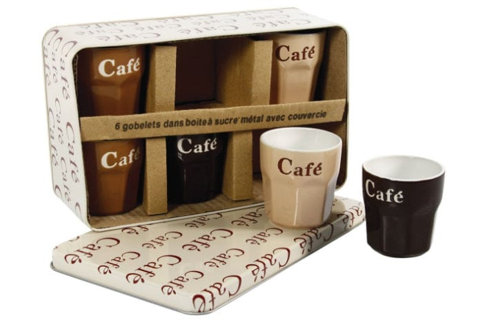 Un juego de tazas de café perfecto para regalar el Día de San Valentín: Delys By Verceral - Set de 6 vasos de cerámica (8 cl)