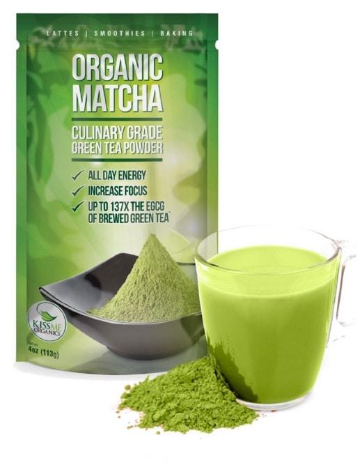 Té verde matcha en polvo de Kiss Me Organics