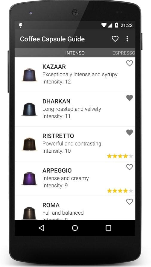 3 aplicaciones para Android imprescindibles si te gusta el café: Coffe capsule guide