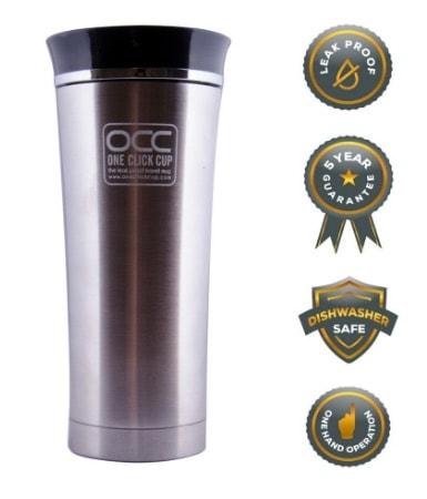 Taza de viaje OCC con garantía antigoteo y rebajada de precio