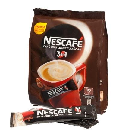 El café para los más comodos: Café soluble con leche y azúcar