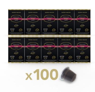 100 Capsulas de Café Compatibles con Nespresso - DANIELS BLEND