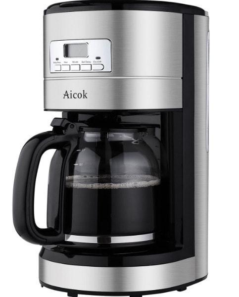 Cafetera de goteo de Aicok programable y de 1.8 litros en oferta