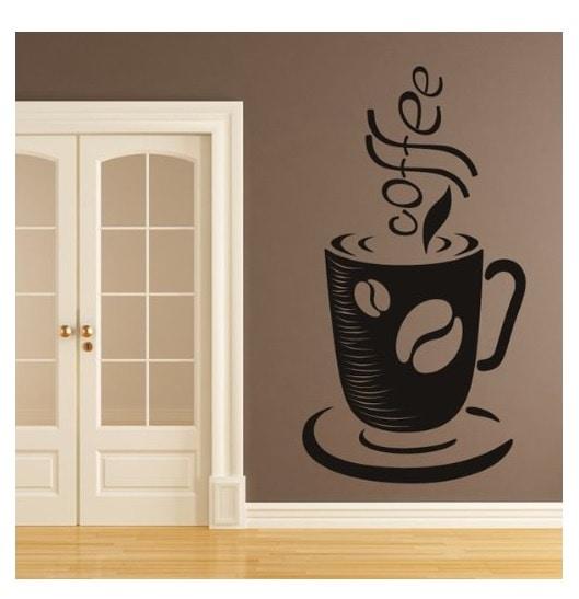 Vinilo taza de cafe