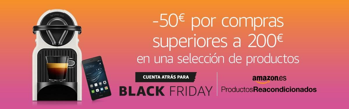 50 euros de descuento por compras superiores a los 200 euros en determinados productos de Amazon España