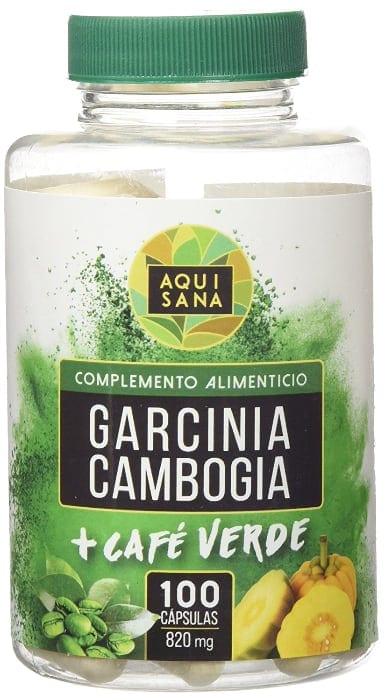 Garcinia cambogia con extracto de café verde para complementar una dieta para adelgazar