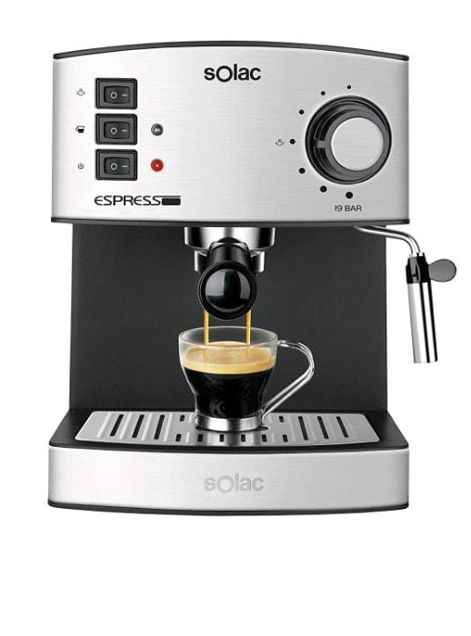 Solac CE4480 Espresso-Cafetera (Capacidad, 19 Bares, 1,25 litros,vaporizador), 850 W, 1.25 litros