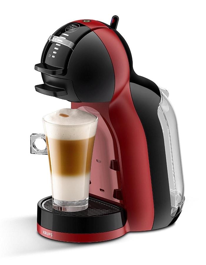 Krups KP120H - Cafetera Nestlé Dolce Gusto Mini Me, automática, 15 bares de presión, cherry & black