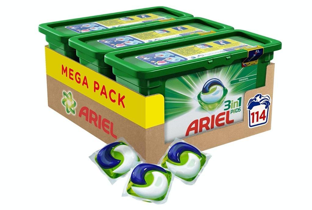 Ariel 3 en 1 - Detergente en Cápsulas Superconcentrado