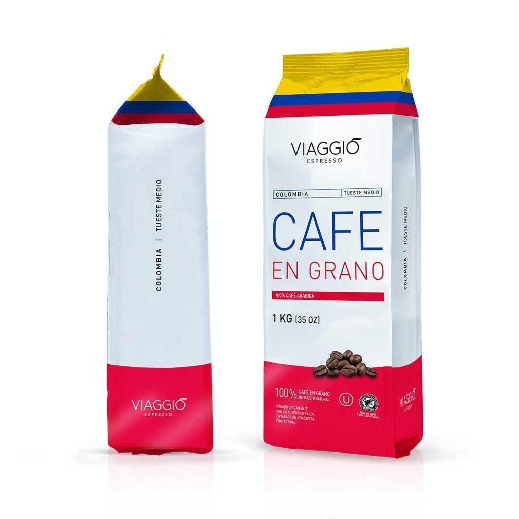 VIAGGIO ESPRESSO - 1 Kg. Café en grano tostado - COLOMBIA