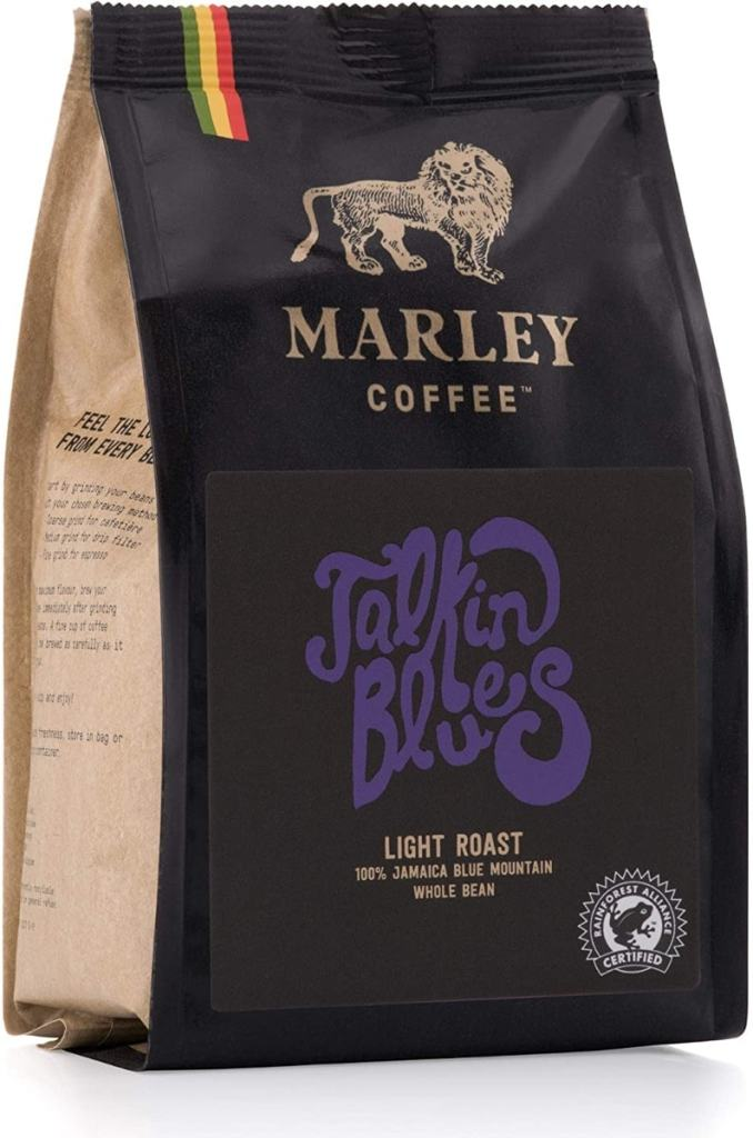 Talkin' Blues de Marley Coffee, 100 % de café Jamaica Blue Mountain