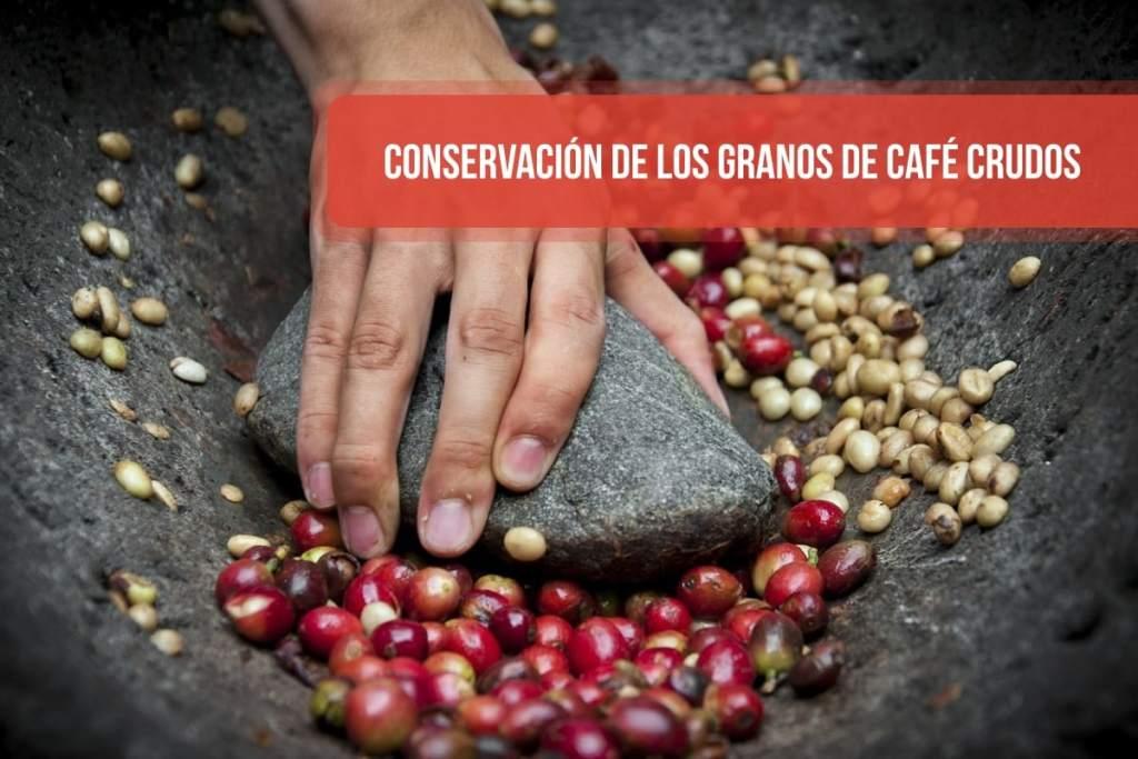 Conservación de los granos de café crudos