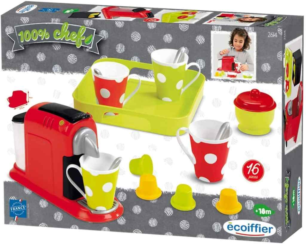 Ecoiffier 2614 - Cafetera con tazas y accesorios de juguete