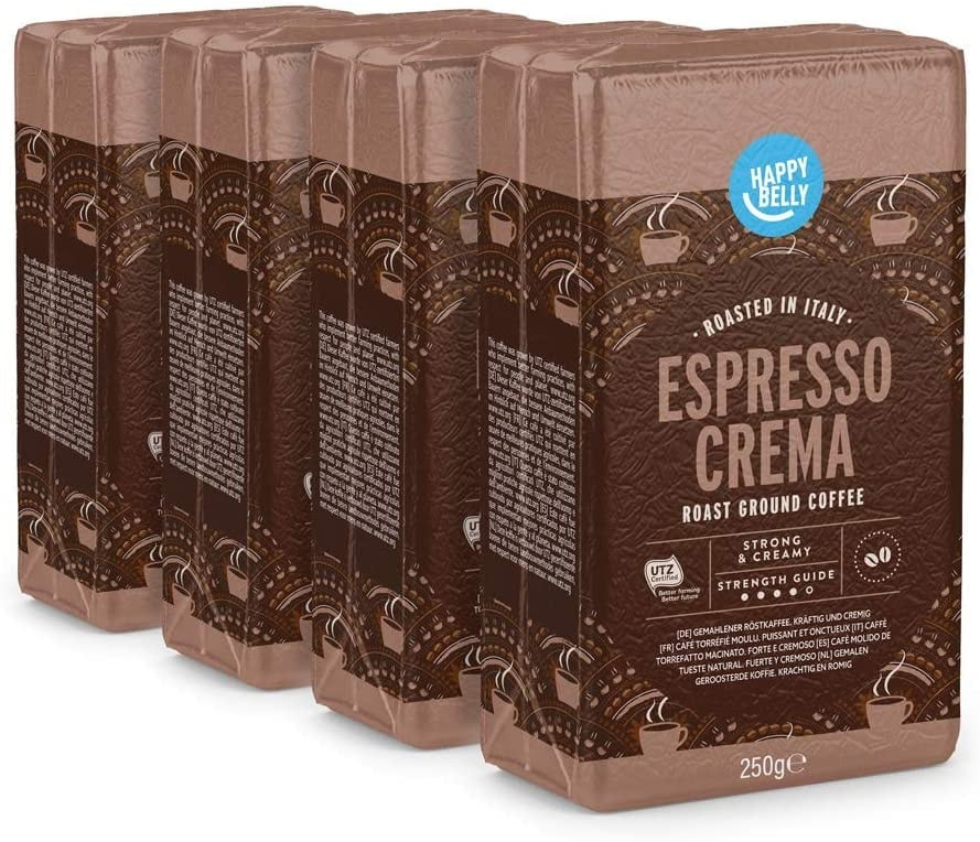 "Happy Belly Café molido ""Espresso Crema"" (4 x 250g)"