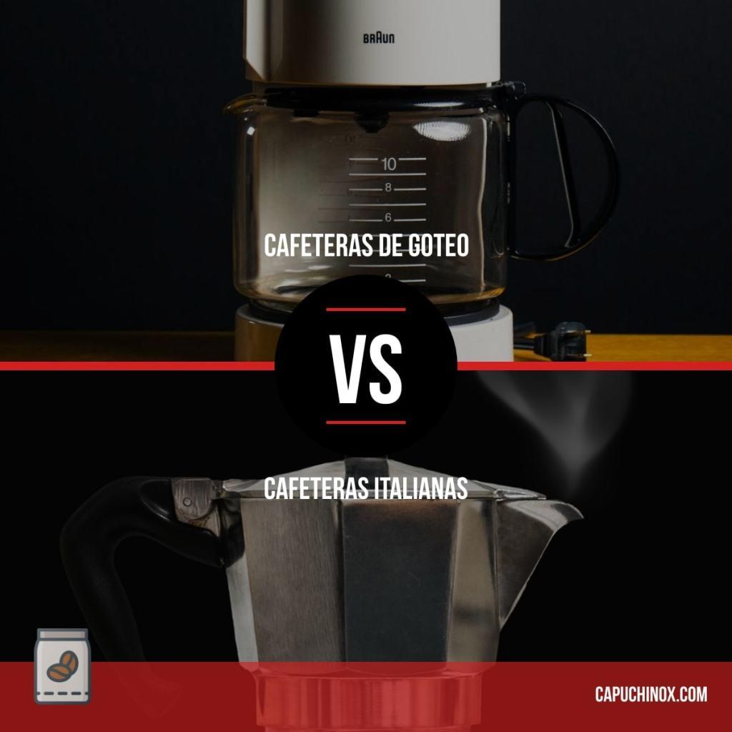 Cafeteras italianas vs cafeteras de goteo