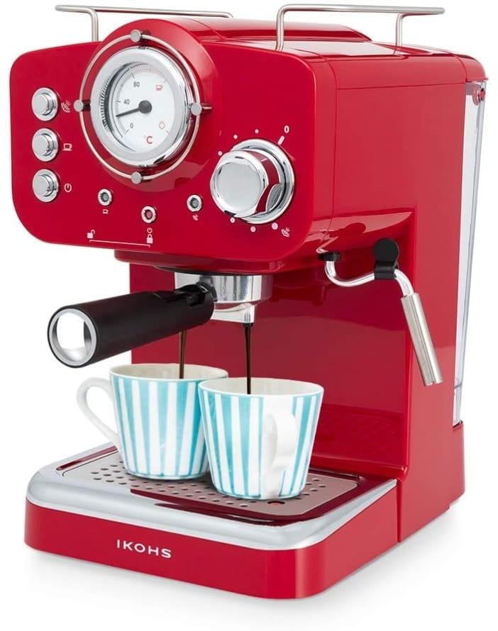 IKOHS THERA Retro - Cafetera Express para Espresso y Cappucino