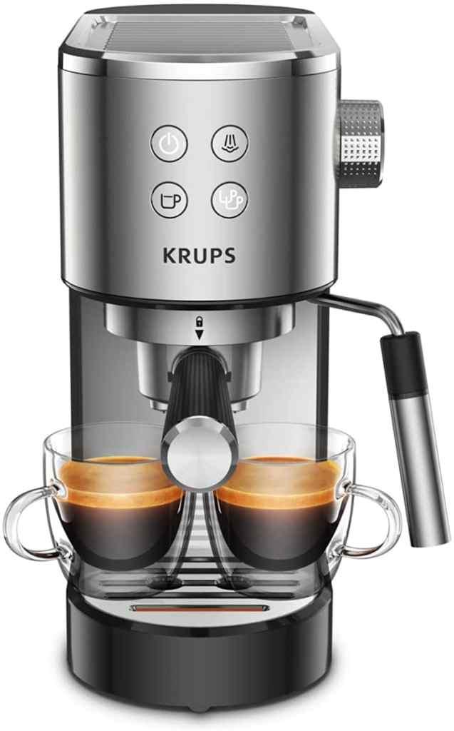 Krups Virtuoso XP442C cafetera espresso, diseño compacto y elegante