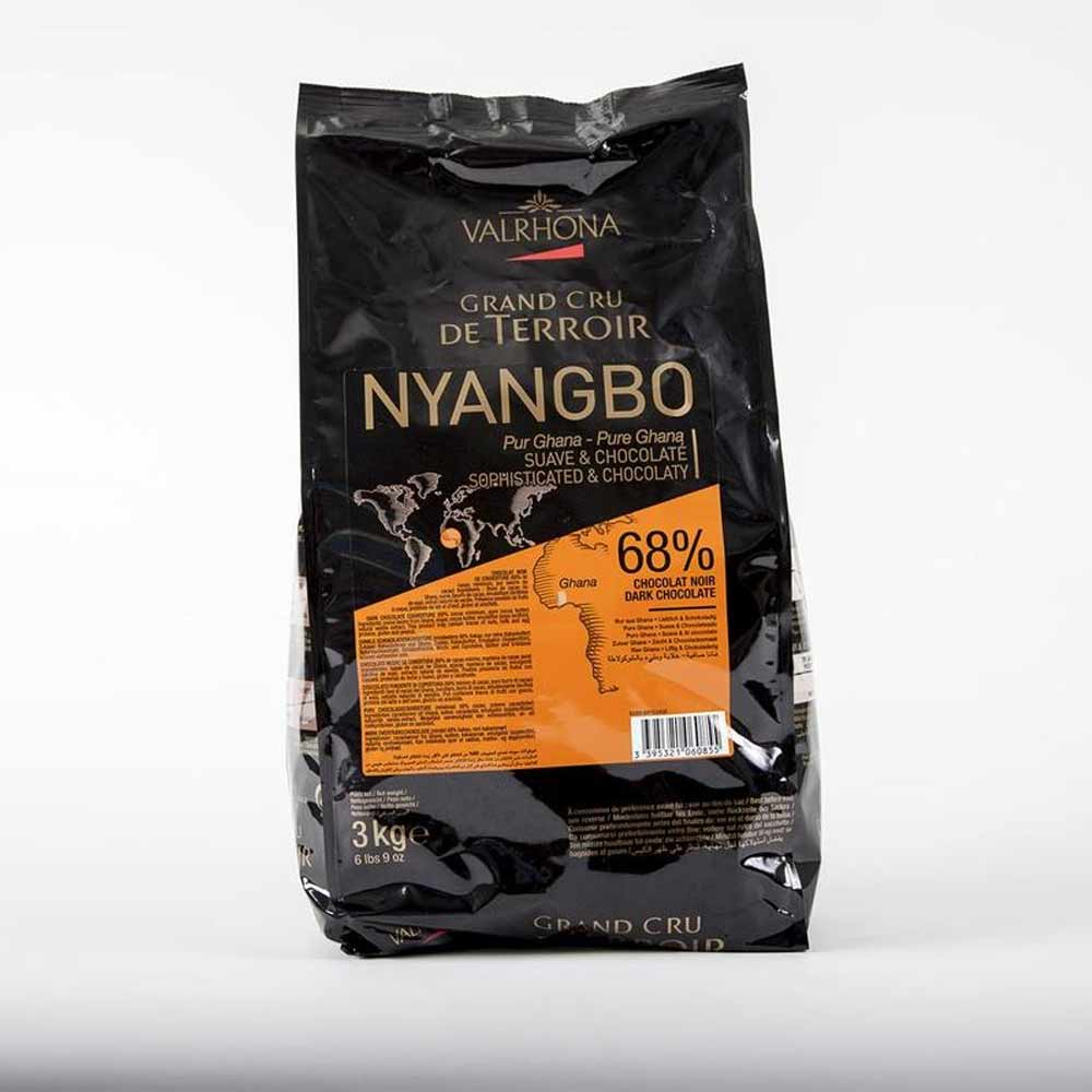 Valrhona Chocolate Nyangbo 'Les Feves' 68% 3 kilograms - Caputo's Market & Deli