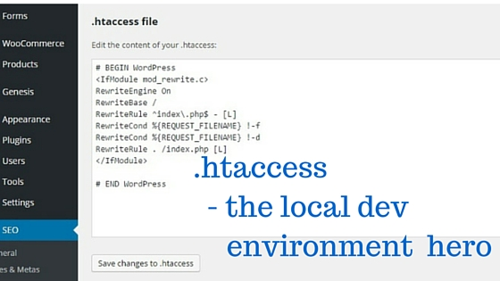 htaccess- the local dev environment hero