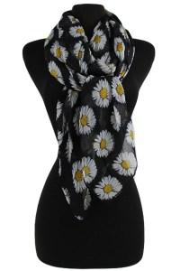 Daisy Pattern Soft Scarves & Wraps