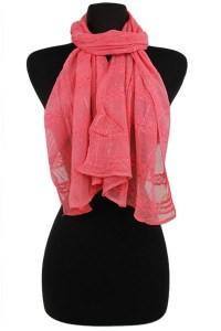 Solid Plaid Scarves And Wraps