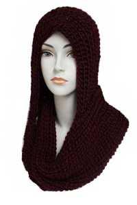 Hooded Crochet Knitted cowl Neck Softness Scarves