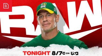 John Cena to begin tonight's WWE RAW