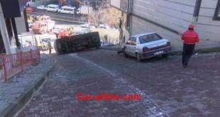 ركنة السيارة على المنحدر