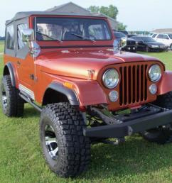 jeep cj7 orange [ 1066 x 800 Pixel ]