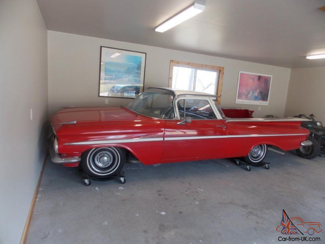 hight resolution of  3 1959 chevrolet el camino collection driver fixer and parts cars photo