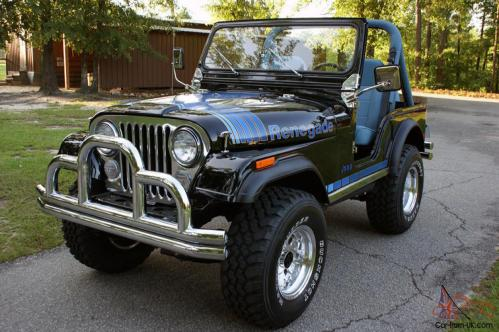 small resolution of 1979 jeep cj renegade black blue restored 401 v8 ps