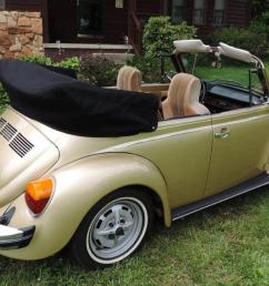 1974 volkswagen super beetle limited edition gold sun bug convertible photo [ 1270 x 800 Pixel ]