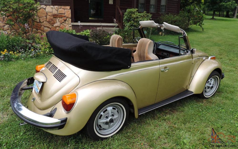 medium resolution of 1974 volkswagen super beetle limited edition gold sun bug convertible photo