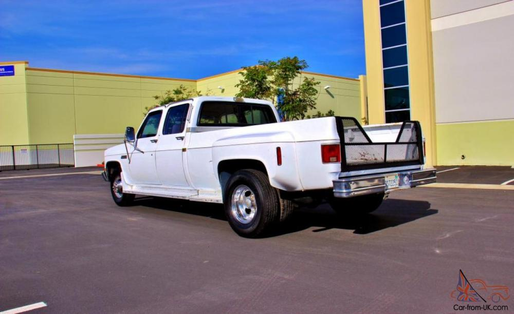 medium resolution of 1987 gmc sierra 3500 crew cab dually 1 owner clean certified make offer