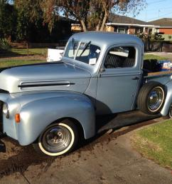1946 ford jail bar pick up v8 stepside f100 f150 f250 truck in bannockburn vic [ 1066 x 800 Pixel ]